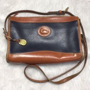 Vintage Dooney & Bourke navy pebbled leather bag
